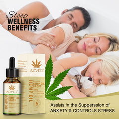 30ml Essential Oils Organic Hemp Seed Oil Herbal Drops Body  Stress Reliever