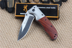 Survival folding knife Tactical camping knife titanium Combat pocket Knives