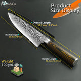 High Carbon Stainless Steel 8 Inch Chef Knive Japanese