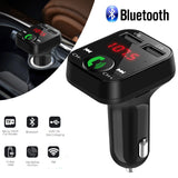 Wireless Bluetooth FM Transmitter LCD MP3 Player USB Charger