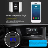 Wireless Fm Transmitter clear Audio handsfree Car Kit faster 3.4A charger