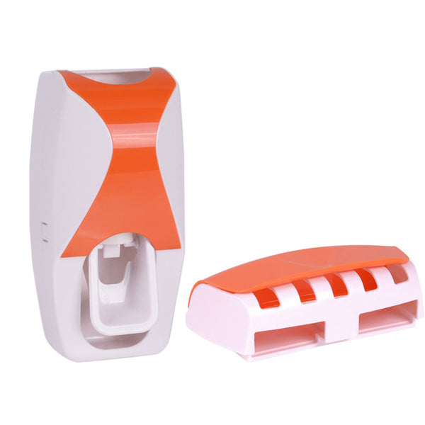 Automatic Toothpaste Dispenser 5 Toothbrush Holder Squeezer