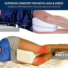 Memory Foam Leg Pillow Cushion Knee Support Wedge Pain Relief Washable Cover