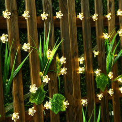 Peach Flower String Fairy Light Outdoor Garden LED Solar String Light 22m 200 LEDS