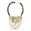 Honeycomb Necklace with chain Gold by Ayaka Nishi