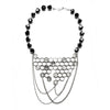 Honeycomb Necklace with chain Silver by Ayaka Nishi