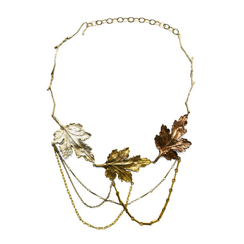 Three Leaves Necklace by Ayaka Nishi