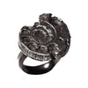Antique Silver Back Ammonite Ring by Ayaka Nishi