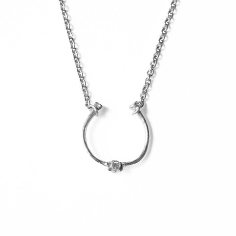 Bone Ring Chain Necklace