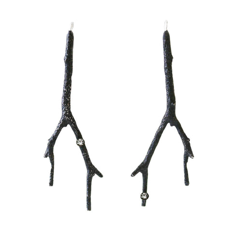 Branch Earring with Diamond