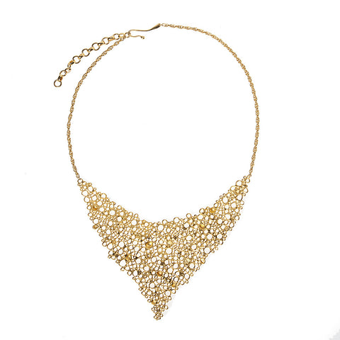 Gold Big Cell Necklace by Ayaka Nishi