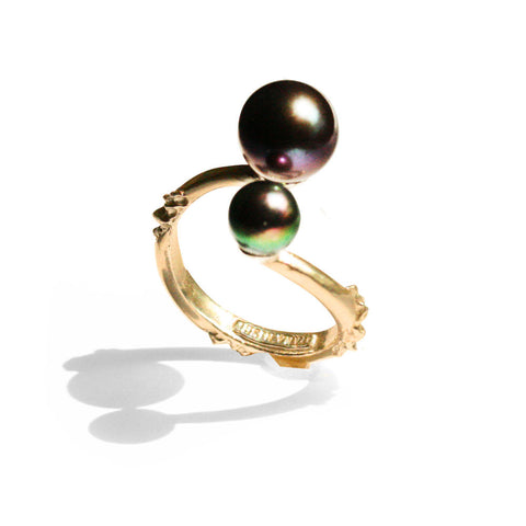 Double Pearl Melange Ring B
