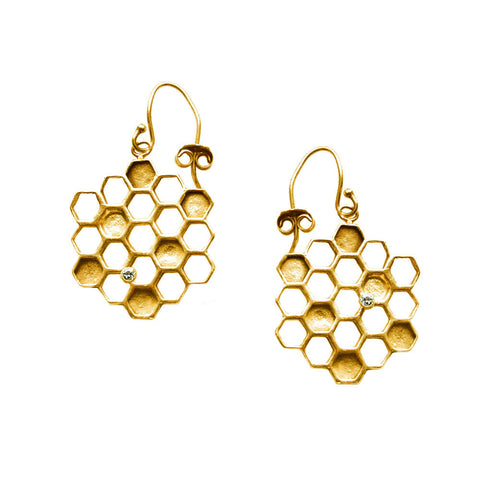 Round Honeycomb Earring