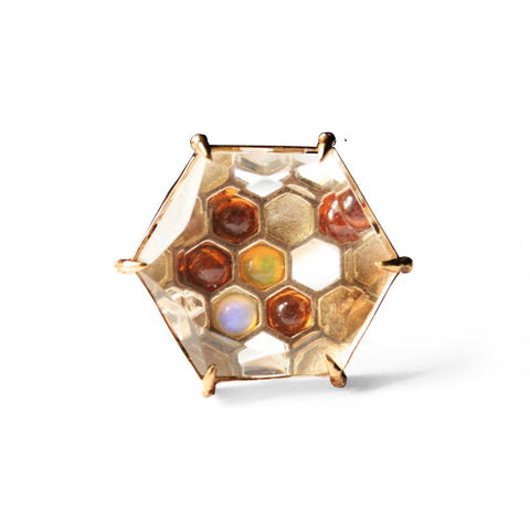 Honeycomb Hexagon Ring
