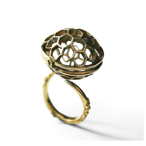 Honeycomb Open Ring