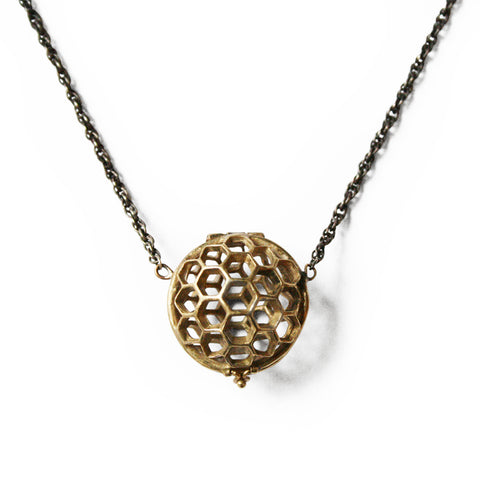 Open Honeycomb Necklace