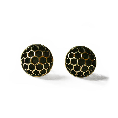 Dome Honeycomb Earring