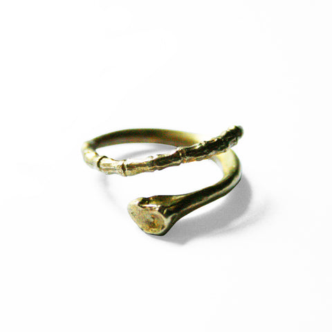 Tapered Bone Ring 18K Gold