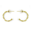 Bone Hoop Earring with Diamond