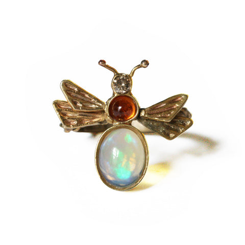Honey Bee Ring 18K Gold