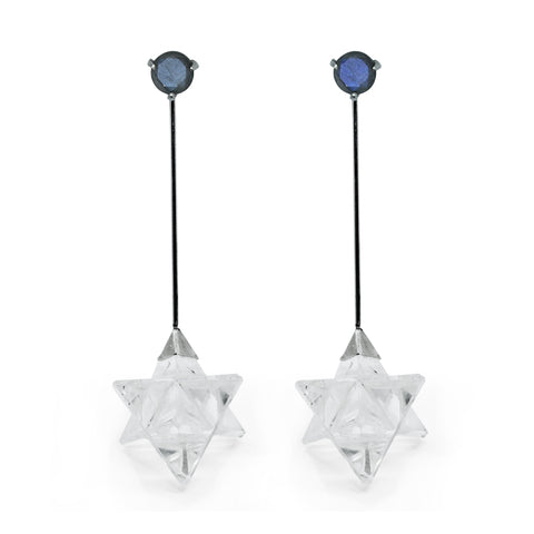 Hexagram Quartz Earring