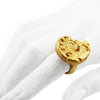 Gold Back Ammonite Ring by Ayaka Nishi on model