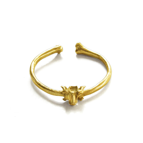 Tiny Bone Ring (18K Gold)