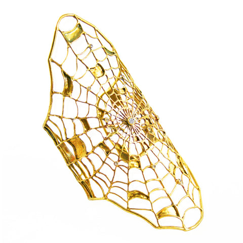 Filled Spider Web Bracelet