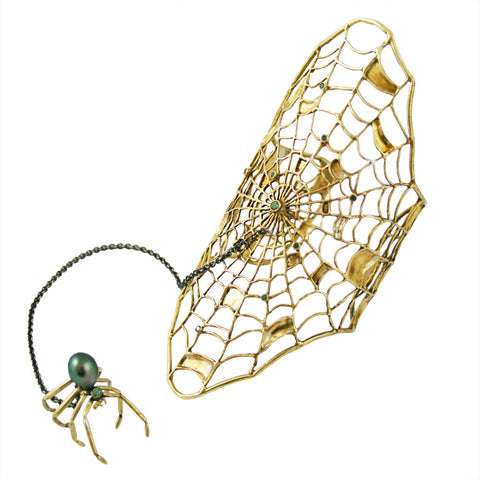 Spider Web Bracelet with Spider Ring