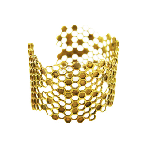 Detail Wide Honeycomb Bracelet