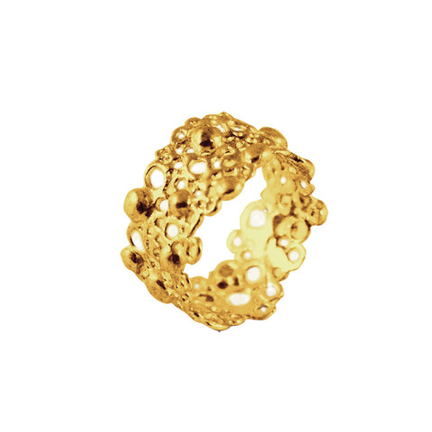 Gold Cell Ring by Ayaka Nishi