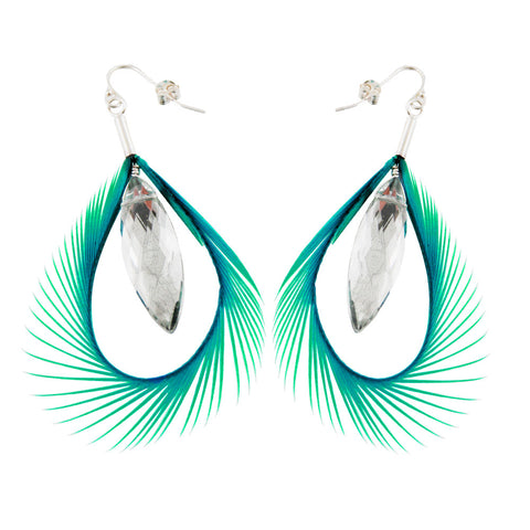 Green Feather Earring