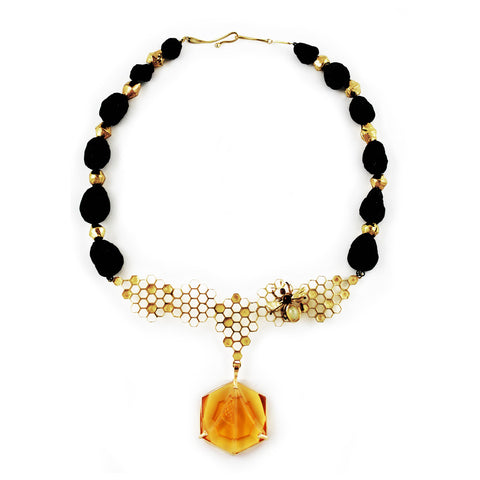 Kiriko Glass Honeycomb Necklace