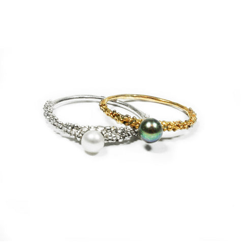 Grain Thin Pearl Ring