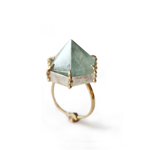 Bone Topaz Ring