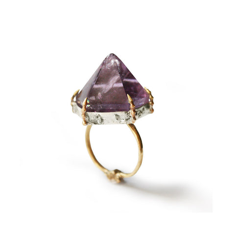 Bone Amethyst Ring