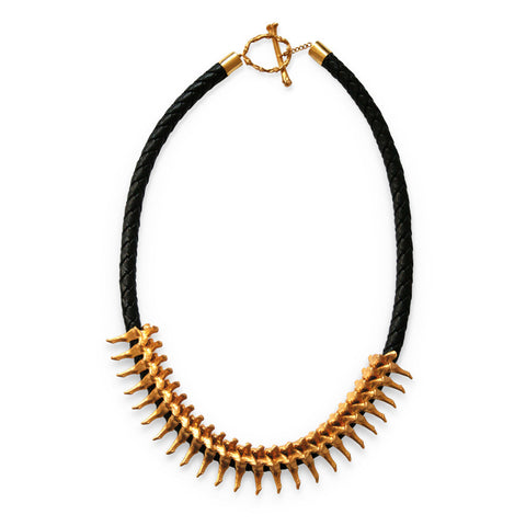 Spine Leather Necklace