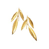 Three Leaves Earring Gold by Ayaka Nishi