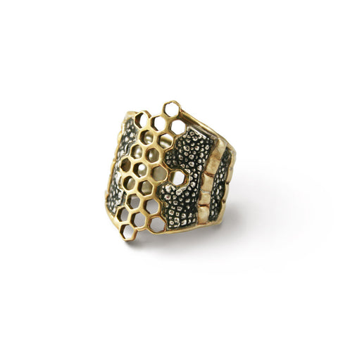 Melange Honeycomb Ring