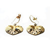 Leaf Earrings Gold by Ayaka Nishi