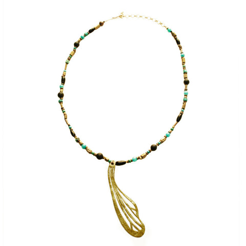 Insect Wing  Beads Necklace