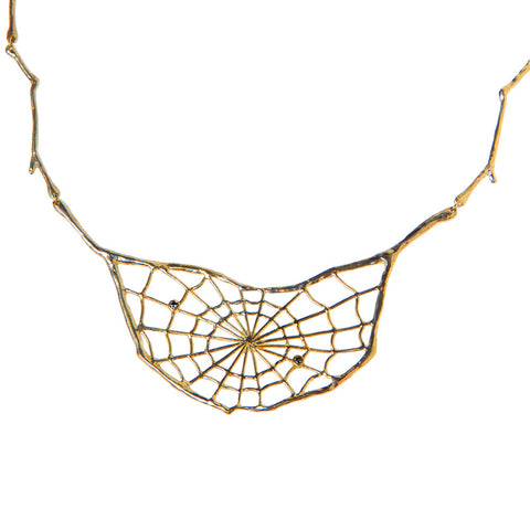 Spider Web Necklace