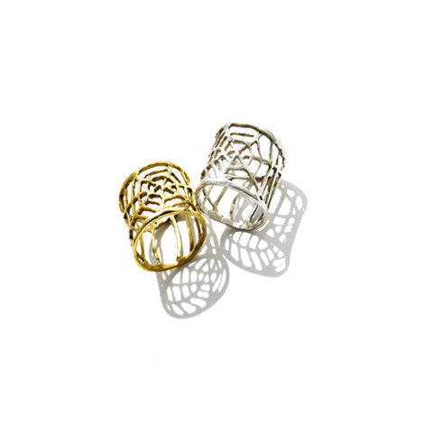Spider Web Pinky Ring