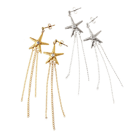 Star Fish Chain Earring