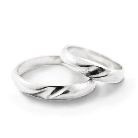 Bone Curve  Wedding Ring