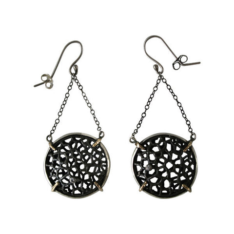 Cell Circle Earring by Ayaka Nishi
