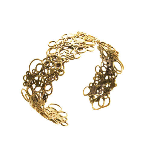 Gold Cell Cuff by Ayaka Nishi
