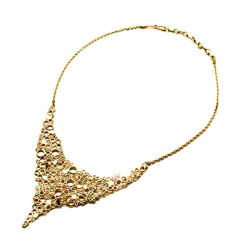 Small Cell Necklace Gold by Ayaka Nishi