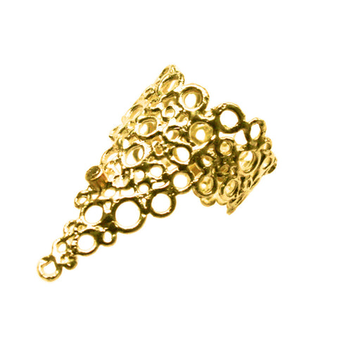 18k Gold Cell Ring