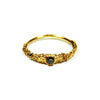 Grain Thick Ring with 2mm Diamond Gold By Ayaka Nishi